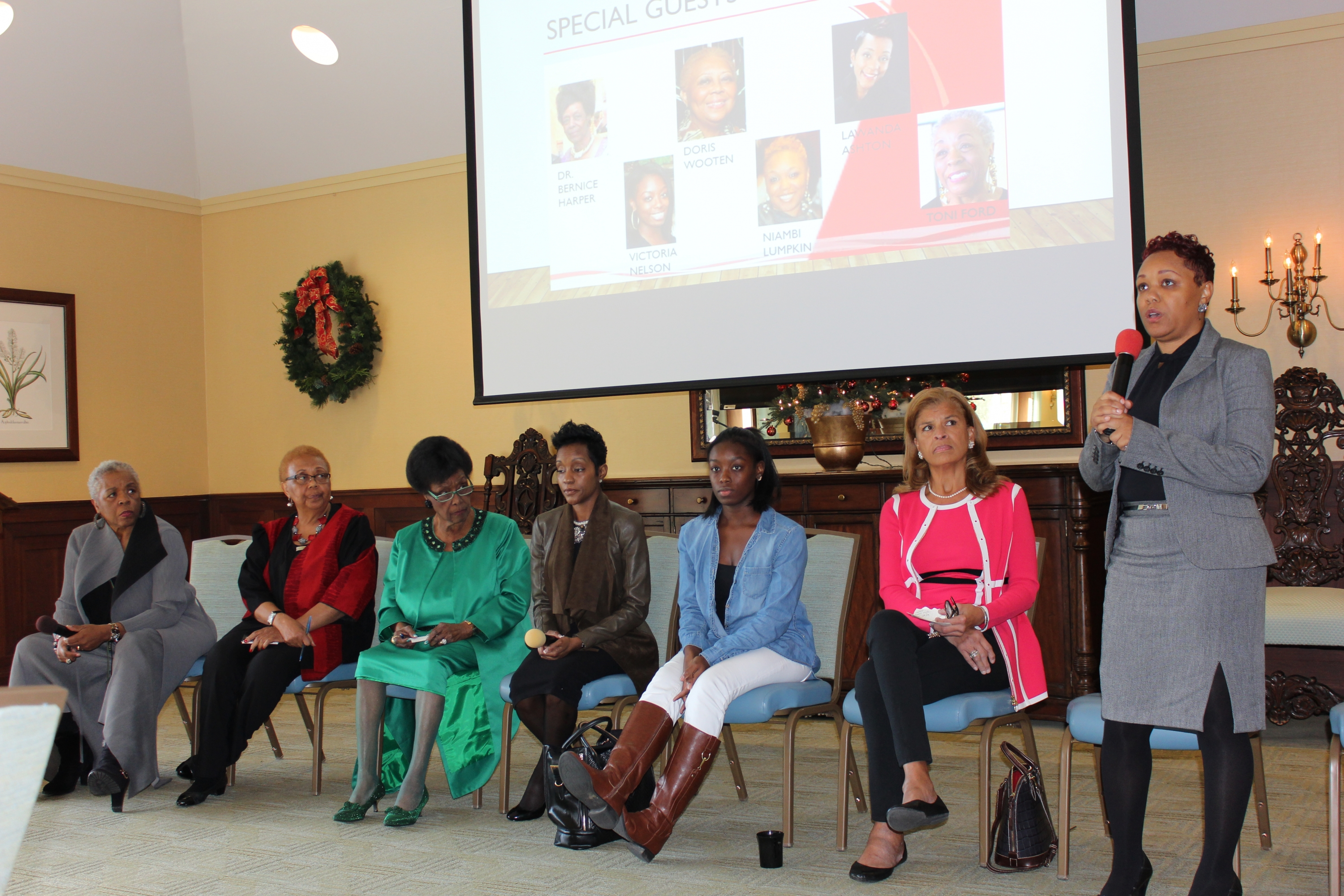 Panelists share their thoughts and expertise during the BSU event at SugarLoaf.