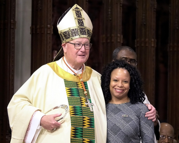 Deena Sellers and Cardinal Dolan