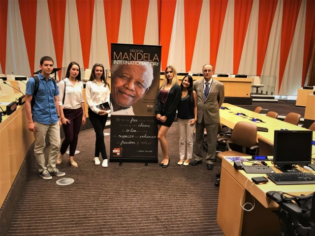 Students from Camp Happiness spent time at the United Nations for Nelson Mandela Day.