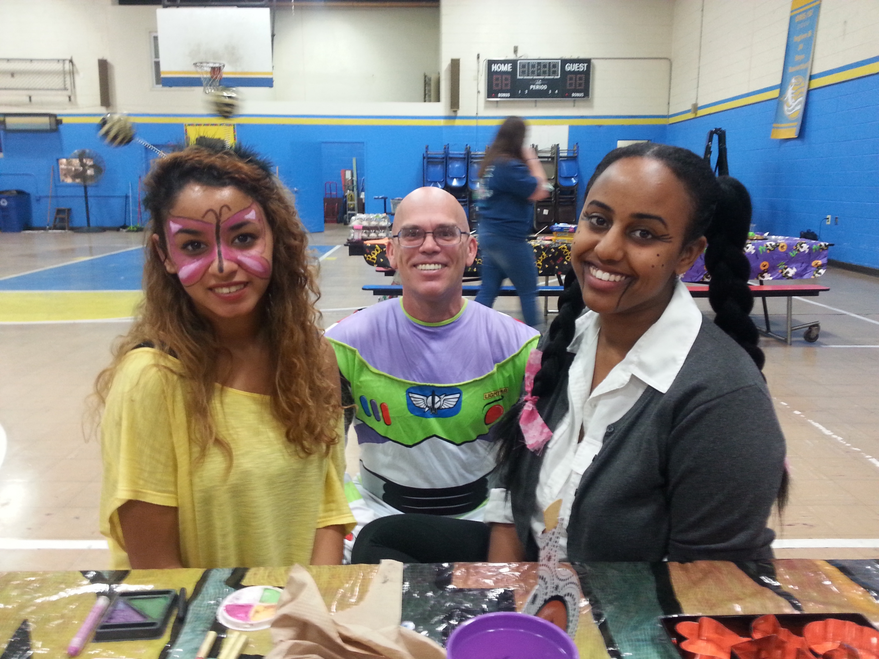 Mimi Ali '17, William Hazley '18, and Elizabeth Yohannes '17
