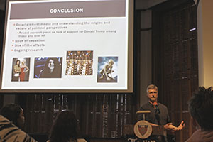 "Jack Gierzynski, Ph.D., a professor at the University of Vermont, presented the second plenary lecture, ""Do Fictional Stories Really Make Us More Tolerant and Accepting?"""