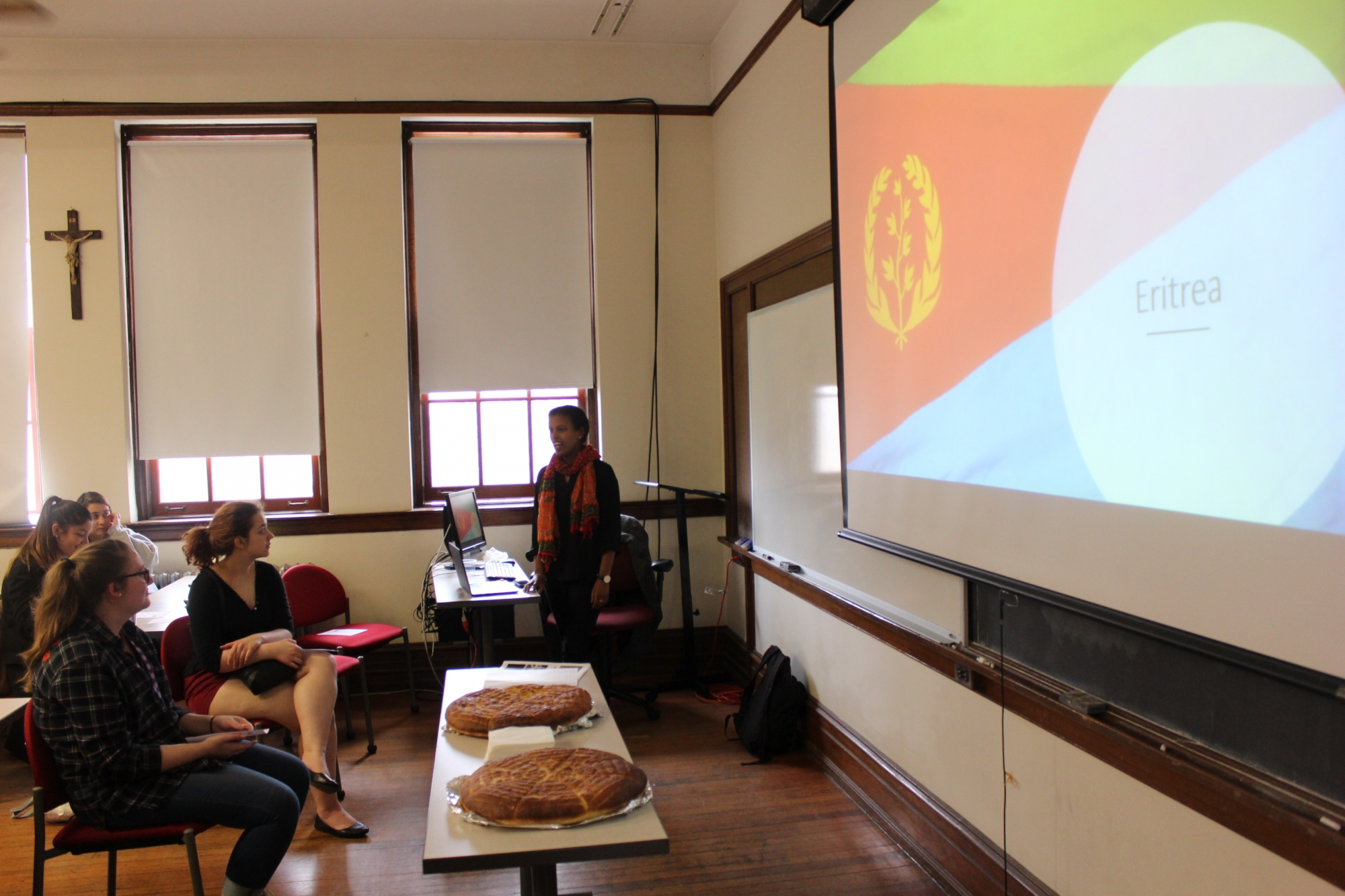 "Liz Legesse shared her presentation on her home country of Eritrea as part of the Global Education Office's ""Travels at Teatime."""