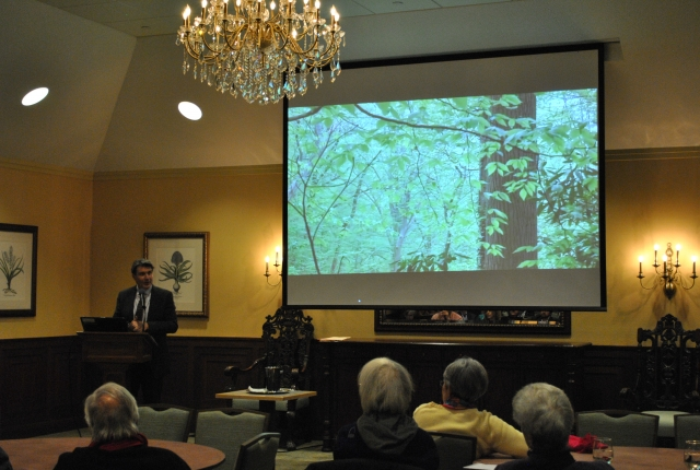 "Mark I. Wallace, Ph.D. professor of religion at Swarthmore College, presented ""Where the Great Heron Feeds: Christianity, Animism and Re-Enchantment of the World,"" in February 2016."