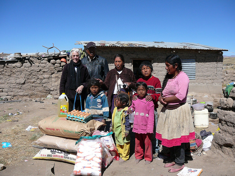 Sister Jean Faustman brings supplies, with love, to the poor of Peru.