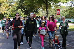 Members of the College community walk to raise money for Lily's Hope Foundation.