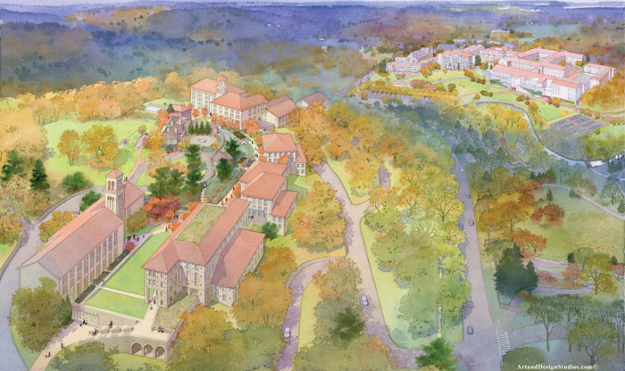 Watercolor image of Chestnut Hill