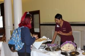 Chartwells participated in Wellness Day by offering students the chance to try some healthy food options