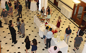Participants enjoy a reception after the induction ceremony.