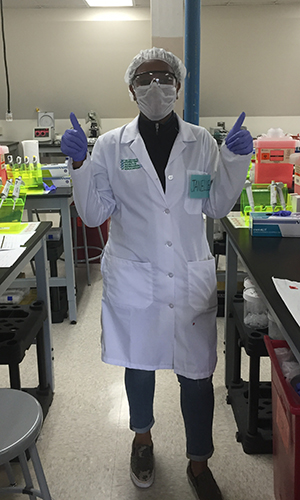 Janelle Leo worked at the National Medical Services Lab as part of a summer internship.