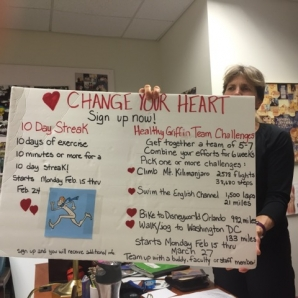 Janice Kuklick displays some of her heart-healthy initiatives.