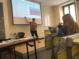 Professor Jacki Reich co-taught classes during the two-week study abroad experience.
