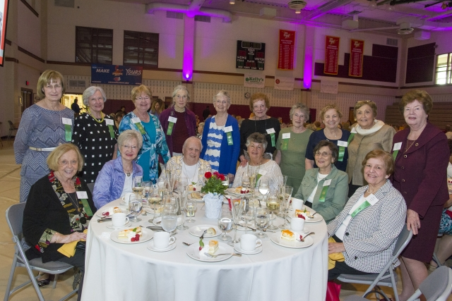 Members of the Class of 1957 enjoy Reunion Weekend Luncheon.