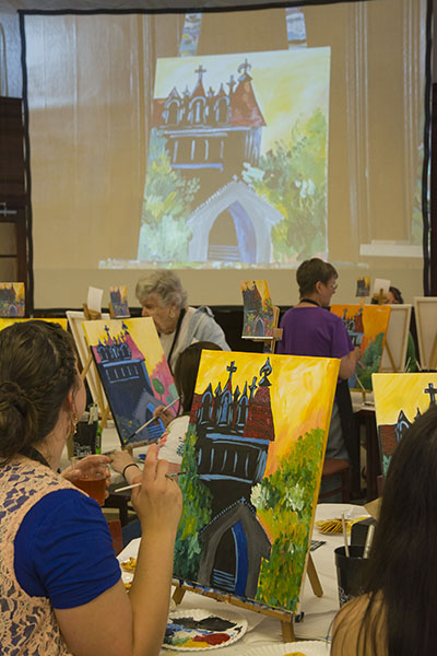 Painting With A Twist was a welcome addition to this year's Reunion Weekend.