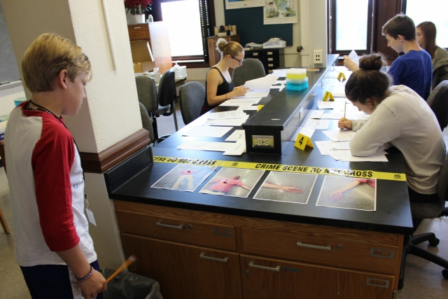 The Forensic Sciences Camp allows young students the opportunity to learn about crime scene investigation in a fun and interactive way.