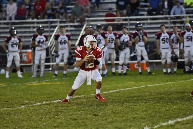 Mike Marino '20 passed for 1,051 yards and 14 touchdowns in his sophomore season. His 14 touchdowns were second among all CSFL quarterbacks.