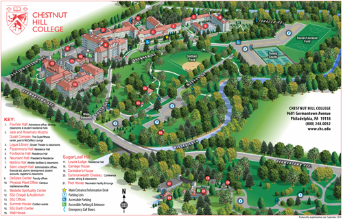 Maps | Chestnut Hill College