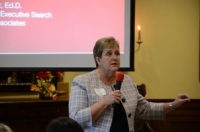 Jan Walbert, Ed.D., a leader in higher education for more than 35 years, gave the day's keynote address. Chelsea Farren