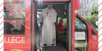 Pope on shuttle