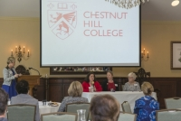 Mary Katherine Ortale '16, Cathy Lockyer Moulton '92 and Regina Maxwell Schwille '66 talk about their involvement with the College.