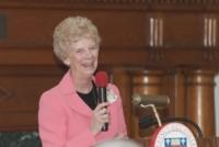 Marie Bambrick, SSJ, M.Ed., expresses gratitude at the retirement reception