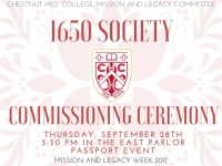 1650 Society Commissioning Ceremony