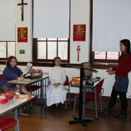 """The Office of Global Education helped ring in the """"Year of the Rooster"""" by inviting staff, faculty and students to celebrate and learn more about the Lunar New Year."""