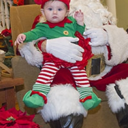 Even the littlest elf was able to enjoy CHC's annual Breakfast with Santa.
