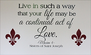 Live in such a way that your life may be a continual act of love