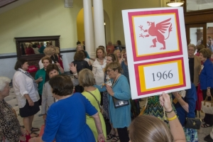 The class of 1966 was inducted as the newest Golden Griffins during Reunion Weekend 2016.