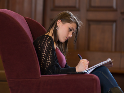 student studying
