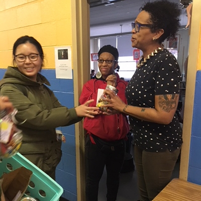 Teacher surprised by an appreciation gift