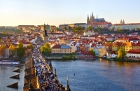View of Prague in the Czech Republic