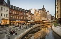 Aarhus, Denmark City Street
