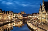View of a city in Belgium