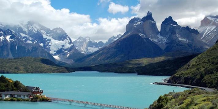 Mountain Range and Lakes