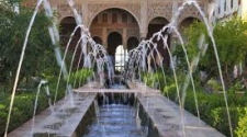 Courtyard in Spain with fountain