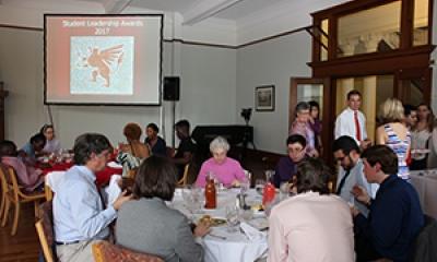 Students at banquet