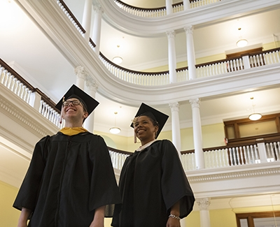 Graduates in the rotunda