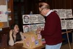 David Contosta votes in a mock primary election