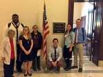 Heart of the City class outside Pat Toomey's office