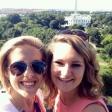 Leeann Burke '16, left, poses with fellow intern, Emma, on top of the Hays Adams Hotel in Washington, D.C.