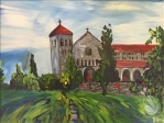 Painting of Fournier Hall