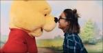 Jaida Zabala and Winnie the Pooh