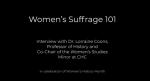 Women's Suffrage 101 graphic