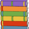 Stack of multi-colored books