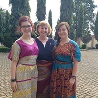 Students in international dress