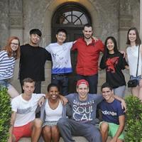 Ten international students
