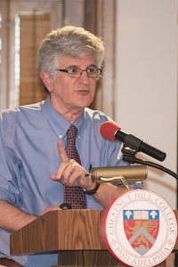 Dr. Paul Offit, M.D., speaks at last week's annual Distinguished Biomedical Lecture Series.