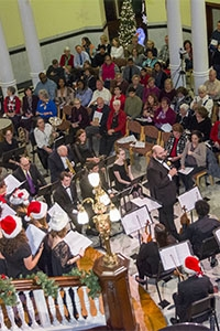 """Chestnut Hill College kicked off its """"Holiday on the Hill"""" celebration with the annual Carol Night."""