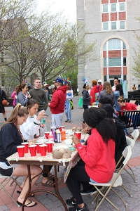 Students had a chance to unwind and relax before finals, with the CHAT and BSU Sponsored Carribbash event, held last week in the piazza.